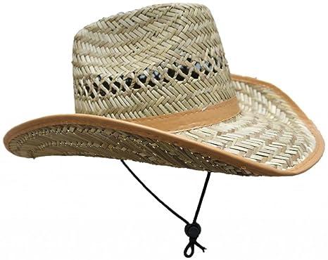 45d089194ea37 Fabulous Unisex Wide Brim Bound Edge Straw Cowboy Sun Hat ONE SIZE   Amazon.co.uk  Clothing