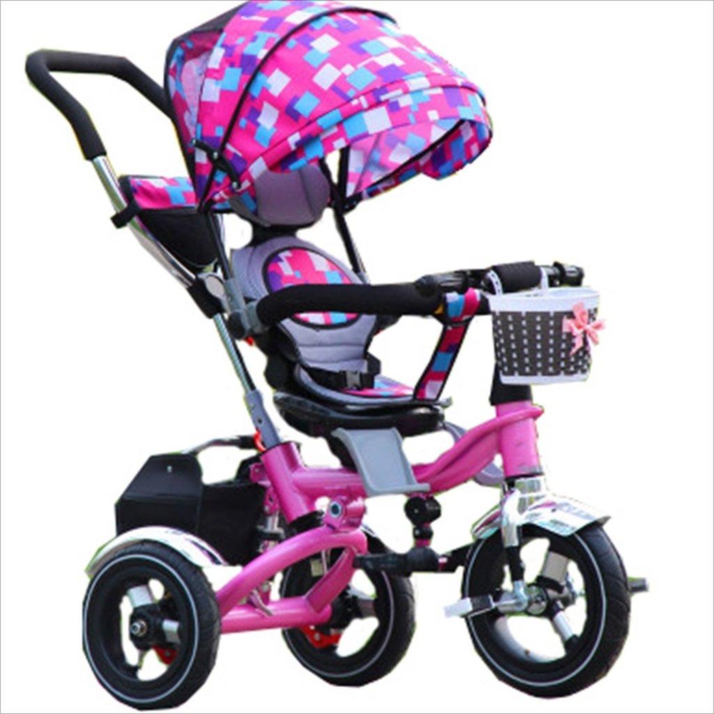 子供の屋内屋外小型三輪車自転車の男の子の自転車の自転車6ヶ月-5歳の赤ちゃんスリーホイールトロリー、ダンピング/折りたたみ/回転座席 (色 : 6) B07DV7PZF2 6 6