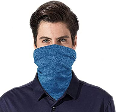 YELLOW Mens Womens Face Mask Covering Scarf Headband Snood Neck Gaiter Washable