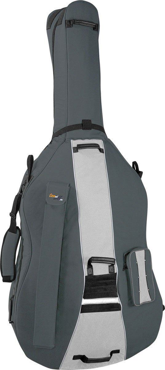 Para contrabajo Tomandwill Traveller 7/8 gig bolsa - con tres tonos gris: Amazon.es: Instrumentos musicales
