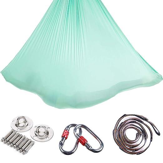 LWKBE Aerial Yoga Hammock 5.5 Yards Premium Aerial Silk ...