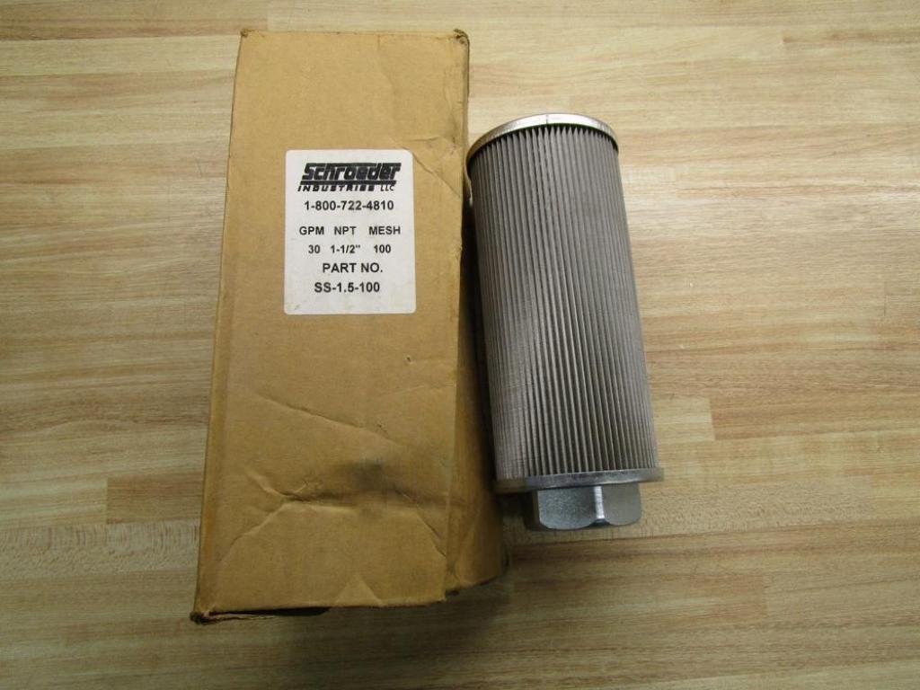 Schroeder SS-1.5-100 Suction Strainer Filter 30GPM  NEW