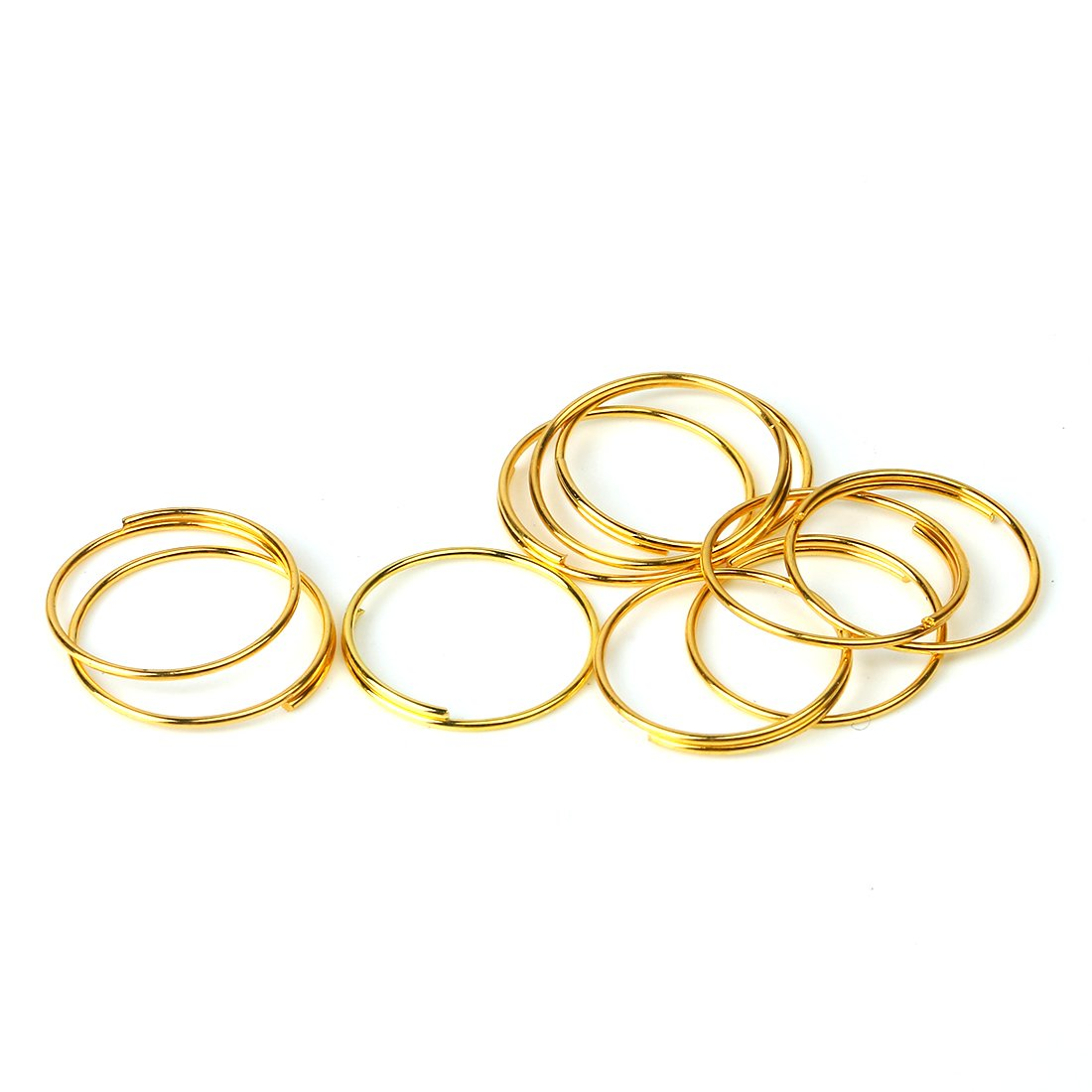 Earrings Crystal Garland Keys Jewelry Making and Craft Ideas Necklaces Crystal Curtain 11mm, Golden H/&D 500pcs Round Edged Split Circular Ring Clips for Crystal Lamps