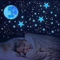 Everyglow Estrelas que brilham no escuro para teto, 1049 peças de decoração de parede de quarto de crianças que brilham…