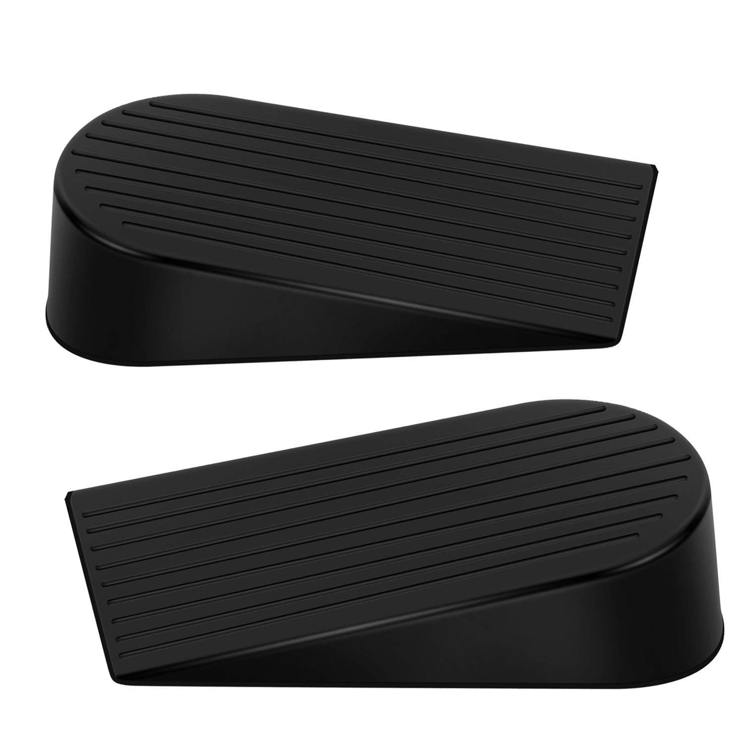 Big Door Stopper, Heavy Duty Rubber Door Stop Wedge,Multi Surface Design - EIOU - Non-Scratching Door Stop 2 Pack