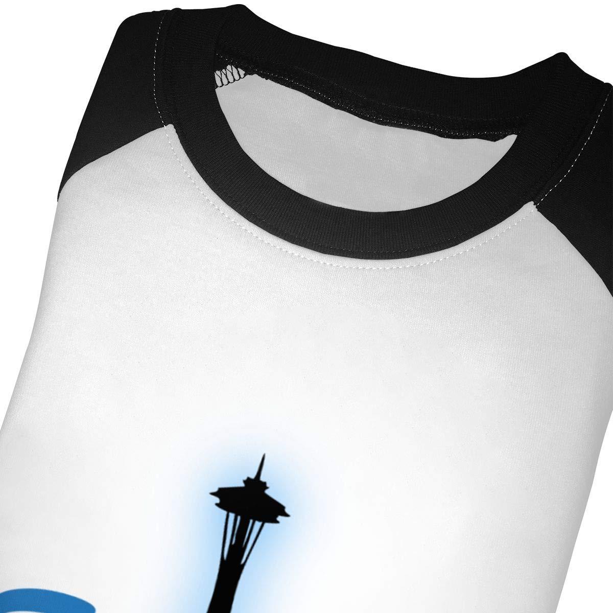 Kocvbng I City Seattle Raglan 3//4 Sleeve T-Shirts for Girl Boy