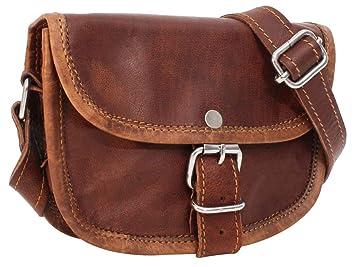 Preis wie kommt man letzte Auswahl Handtasche aus Leder Gusti Leder nature 'Mary' Umhängetasche Damen Braun K36