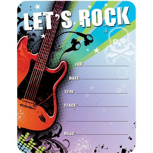 Rock Star Invitation - 50/Pkg