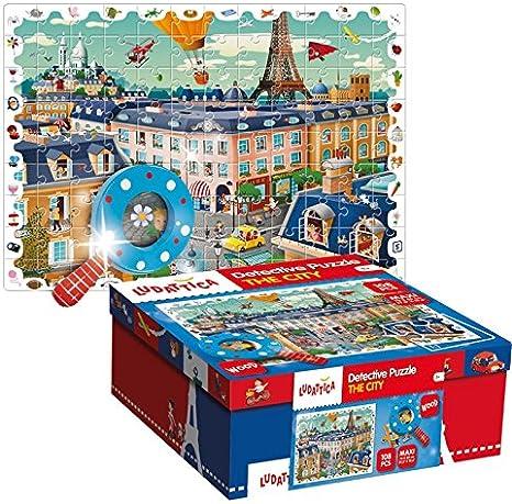 Ludattica 52462 Puzzle – Baby Detective la Ciudad: Amazon.es: Juguetes y juegos