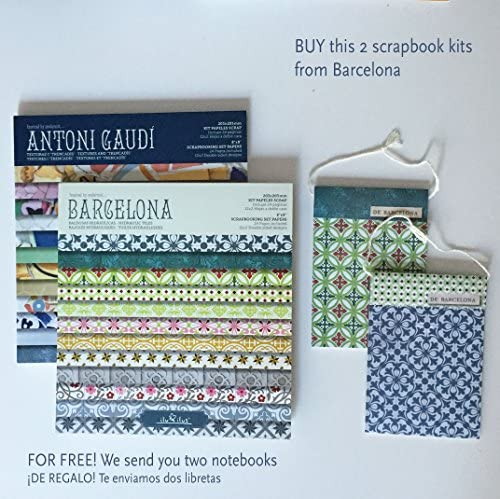 ilu ilus 2 Pads Scrapbook, Kit Barcelona+Gaudí 8-203mm // Regalo 2 libretas Surtidas baldosas Hidráulicas: Amazon.es: Hogar