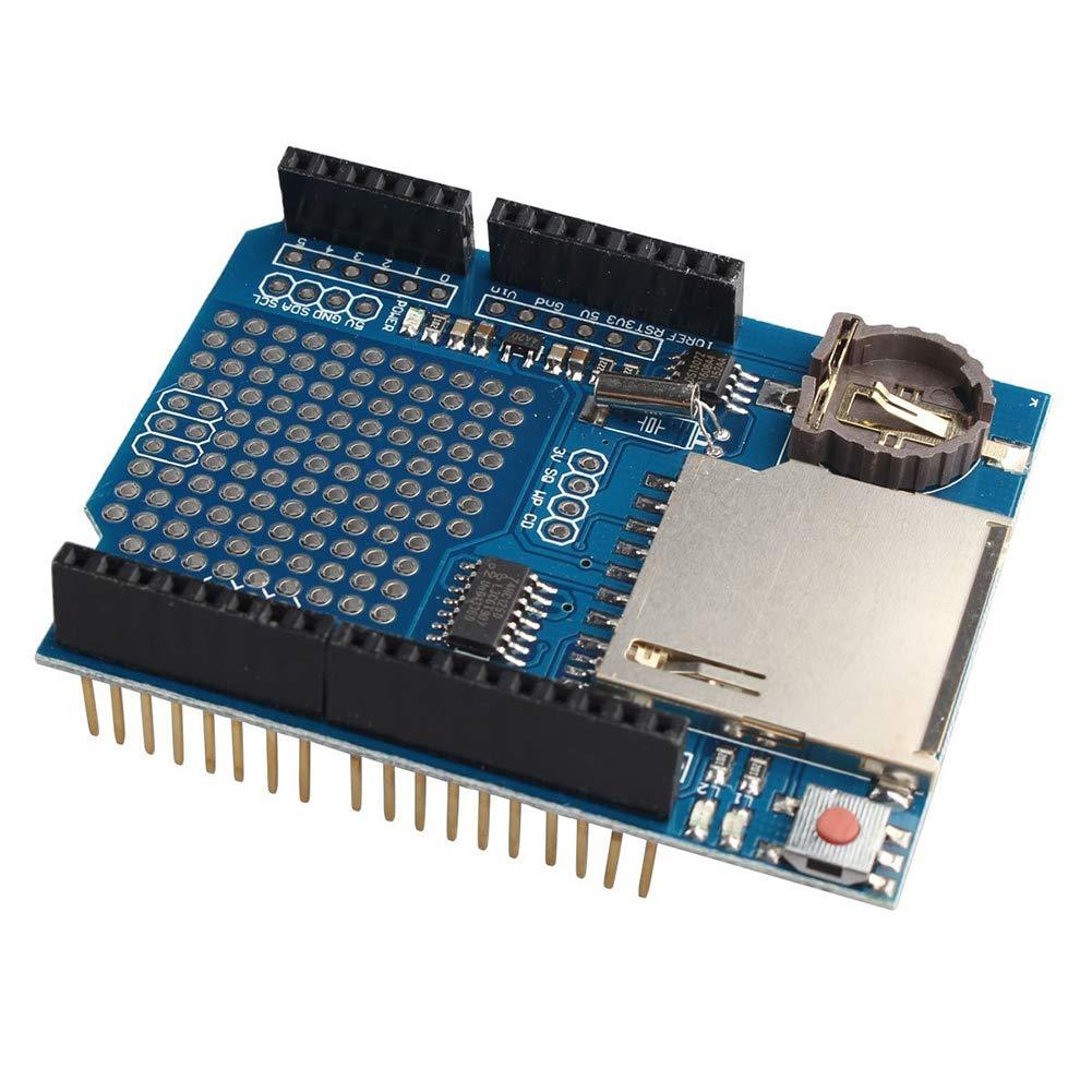 Leoie Data Logger Module Logging Shield Data Recorder DS1307 Durable for Arduino UNO SD Card A20181030B45