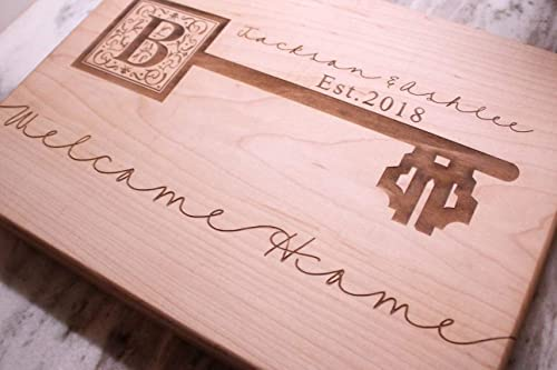 Home is Where My Horse is Country Christmas House Warming Bamboo Cutting Board Housewarming Gift Butcher Block Personalized Wedding Gifts for Couple