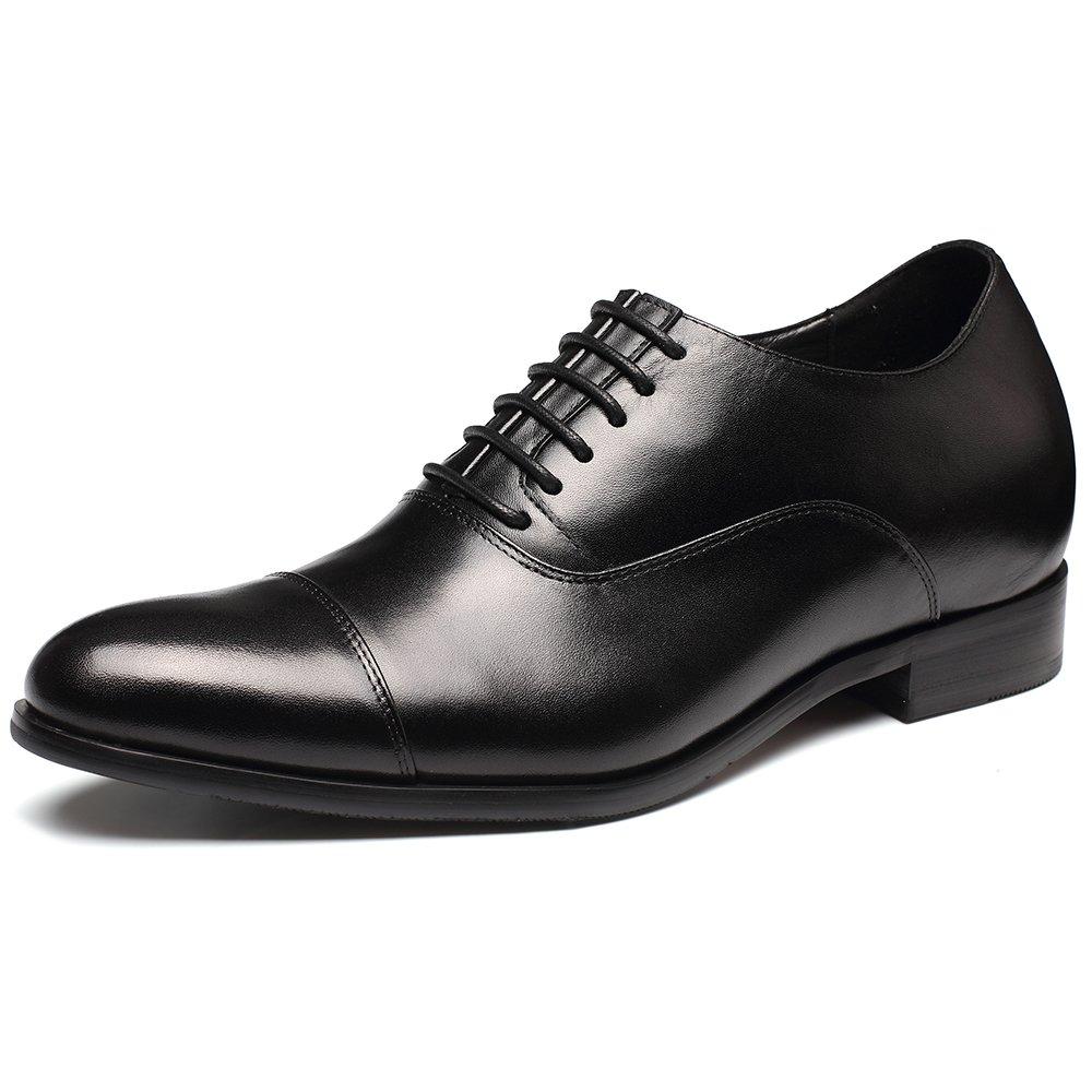 CHAMARIPA Aufzug Männer Höhe Erhöhen Leder Oxford Schuhe Schuhe Schuhe Business Arbeit Büro Hochzeit Schnürschuhe Unsichtbare Herren B01KWYGYG2  2a2c9c