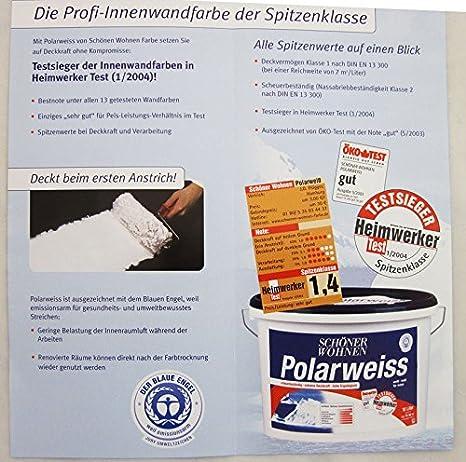 Schöner Wohnen 25 L Polarweiss Extreme Deckkraft Weiß Matt