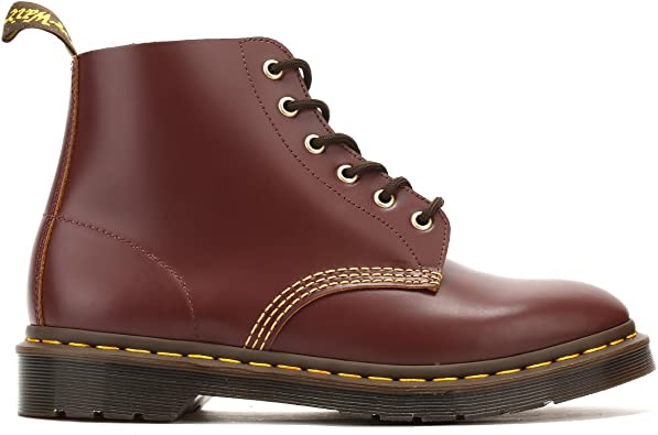 Dr Martens 22701601 Men's 101 Arc Oxblood Vintage Smooth 6 Eye Boots