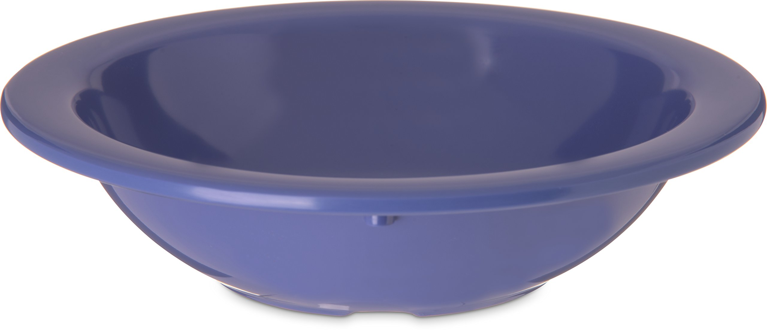 Carlisle 4352914 Dallas Ware Melamine Grapefruit Bowl, 10oz Capacity, 5.95'' Diameter x 1.54'' Depth, Blue (Case of 48)