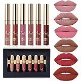 6pcs Matte Velvety Liquid Lipstick Matte Liquid...