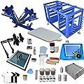 4 Color 1 Station Screen Printing Kit Screen Printer Screen Printing Press Material Kit