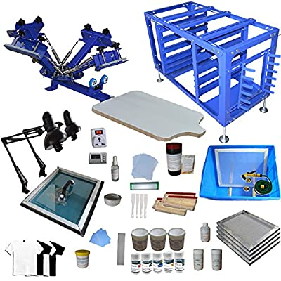 4 Color 1 Station Screen Printing Kit Screen Printer Screen Printing Press Material Kit