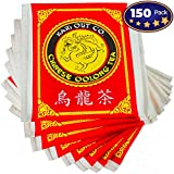 Premium, Full-Flavored Oolong Tea Bags 150 Pack by Avant Grub. Traditionally Brewed Caffeinated Drink Helps Brain Functioning. Semi-Fermented and Served at the Best Chinese and Sushi Restaurants.