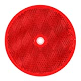 """Grand General 80824 Round Red 3-1/4"""" Reflector"""