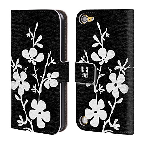 Head Case Designs Ciliegio In Fiore Fiori B&N Cover a portafoglio in pelle per iPod Touch 5th Gen / 6th Gen