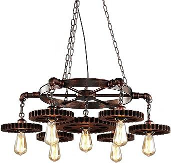 Lampara techo Vintage Industrial Lampara Colgante Rusticas ...