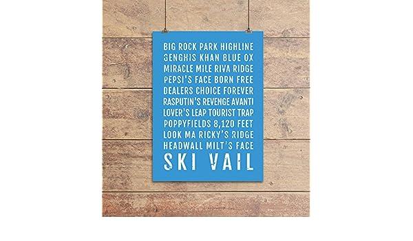Amazon com: Ski Vail Poster - Colorado Ski And Skiing