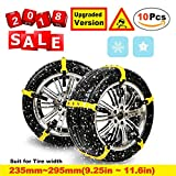 Best Snow Chains - Snow Chain, Anti-Skid Chains Emergency Anti-Slip Tire Belting Review