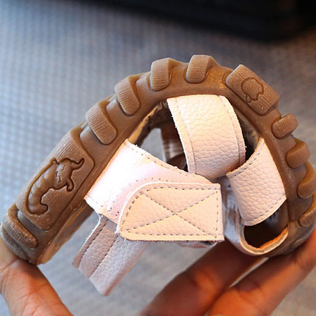 Baby Sandalen Jungen M/ädchen 1-4 Jahre Baby Kinder Sommer PU-Leder Geschlossene Strand Sandalen Lauflernschuhe Outdoor Wanderschuhe Anti-Rutsch Weiche Sohle Schuhe mit Klettverschluss 24-26 Zhen