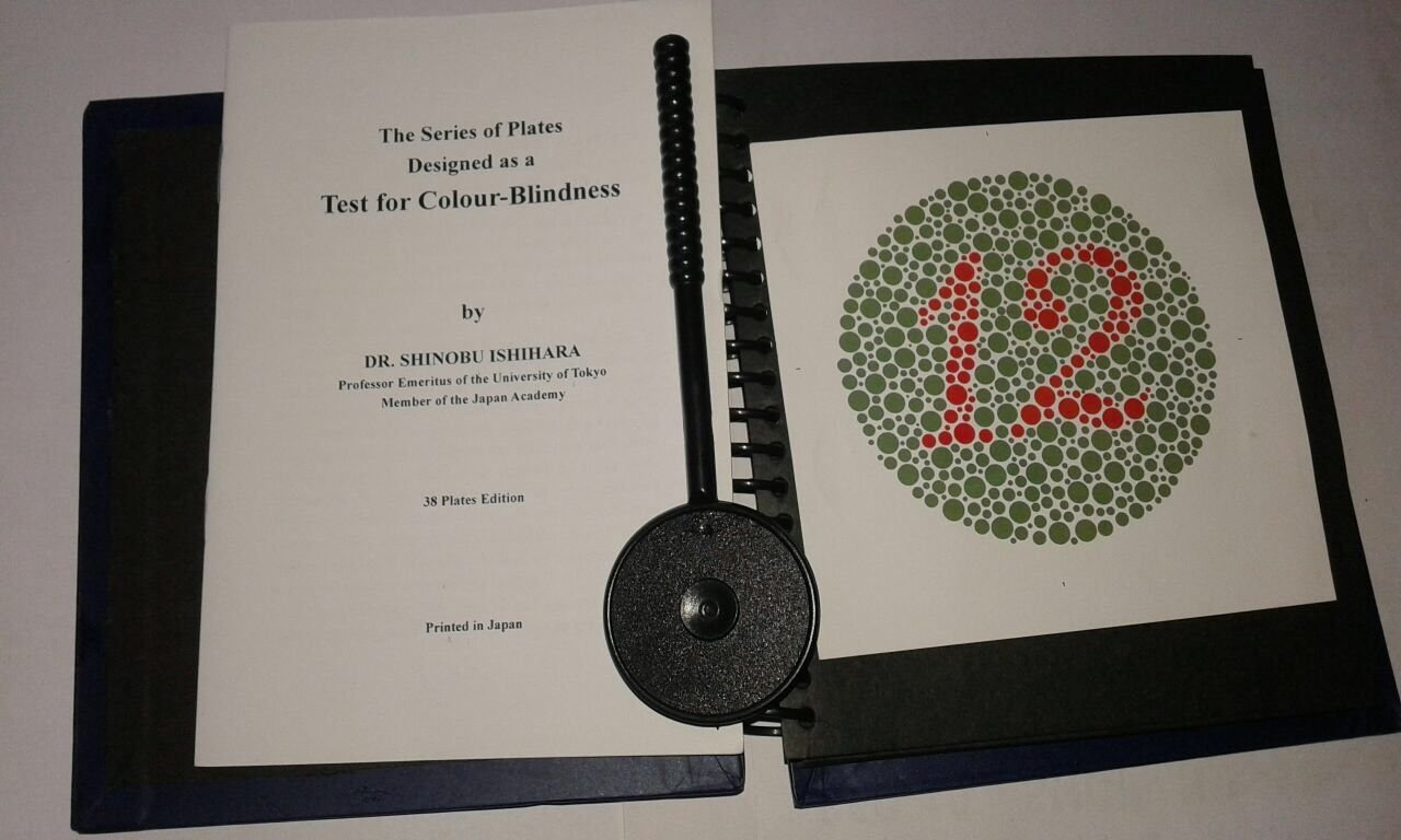 Ishihara Test Book Plates with EYE OCCLUDER For Color Blindness Eye Testing