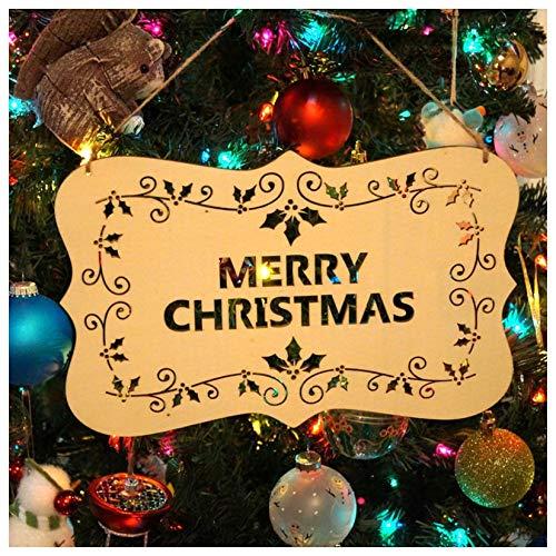 Decorative Decorative - Wooden Merry Christmas Alphabet Listed Greetings Tree Decorations - Decor Mickey Xmas Halloween Christmas Pendant Gifts Watch Button Calendar Wooden & Pendant Chri -