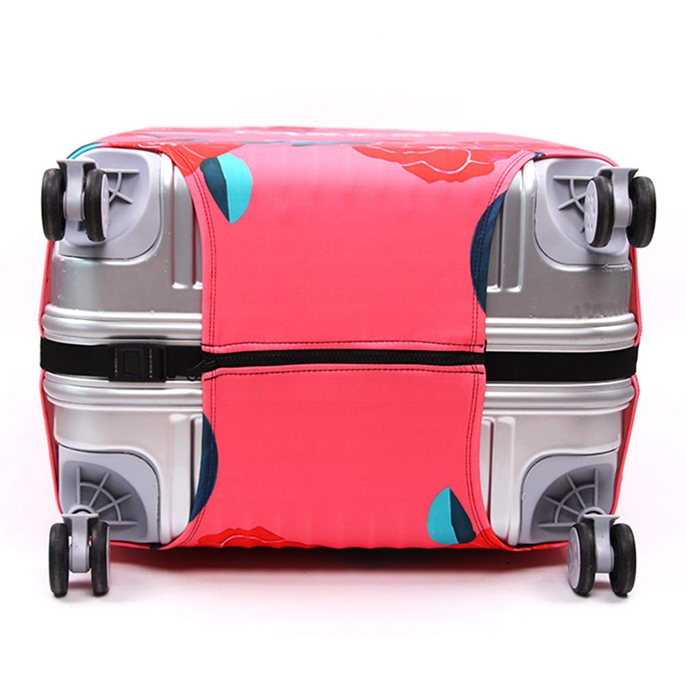 LDIW Elastic Suitcase Protective Cover Trolley Case Protective Cover Travel Luggage Cover Fits for 18-32 Inch Luggage,Coralflower,S