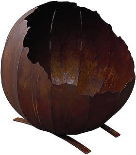 Feuerschale Lincoln Stahl Rostoptik - Feuerstelle Für Draußen ... Gemutliche Feuerstelle Fur Den Garten