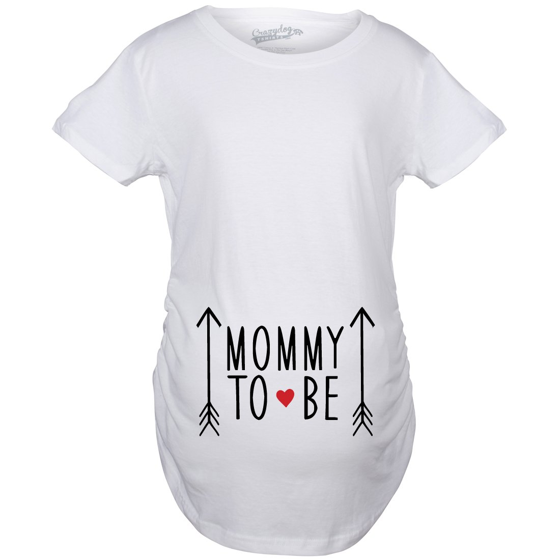 Maternity Mommy To Be Pregnancy Tshirt Adorable Baby Announcement Tee (Blue) Crazy Dog Tshirts