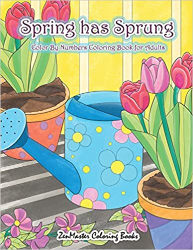 Amazon.com: Adult Color By Numbers Coloring Book of Spring: A Spring ...