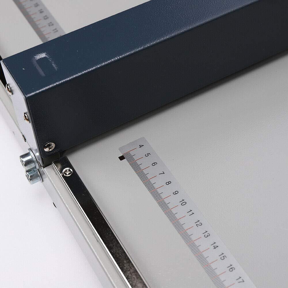 RANZIX Rillmaschine 46CM Manuelle Creasing Maschine F/ür Papier Profi Nutmaschine Einstellbare Scoring Nutmaschine R/ückenst/ütze Rillmaschine