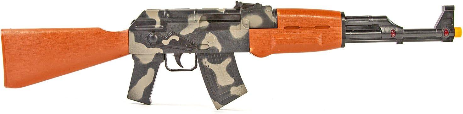 NICK AND BEN® Máquinas de Rifle Niños de Juguete de Camuflaje de Color con luz y Sonido faschings de Arma 62cm
