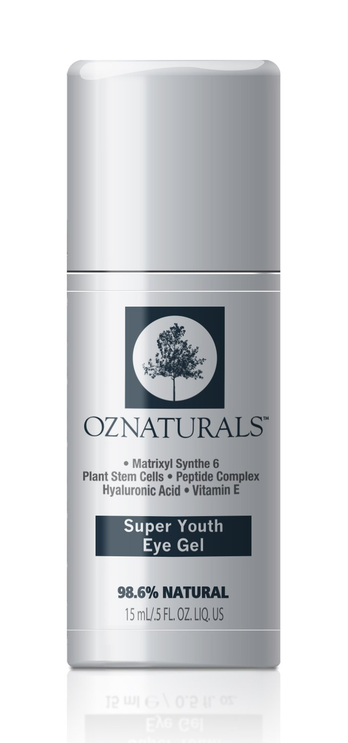OZNaturals Super Youth Eye Gel – Anti Wrinkle, Anti Aging Eye Cream For Dark Circles, Puffiness, Wrinkles. The Most Effective Natural Skin Care Available. 98% Natural.5 fl. Oz.