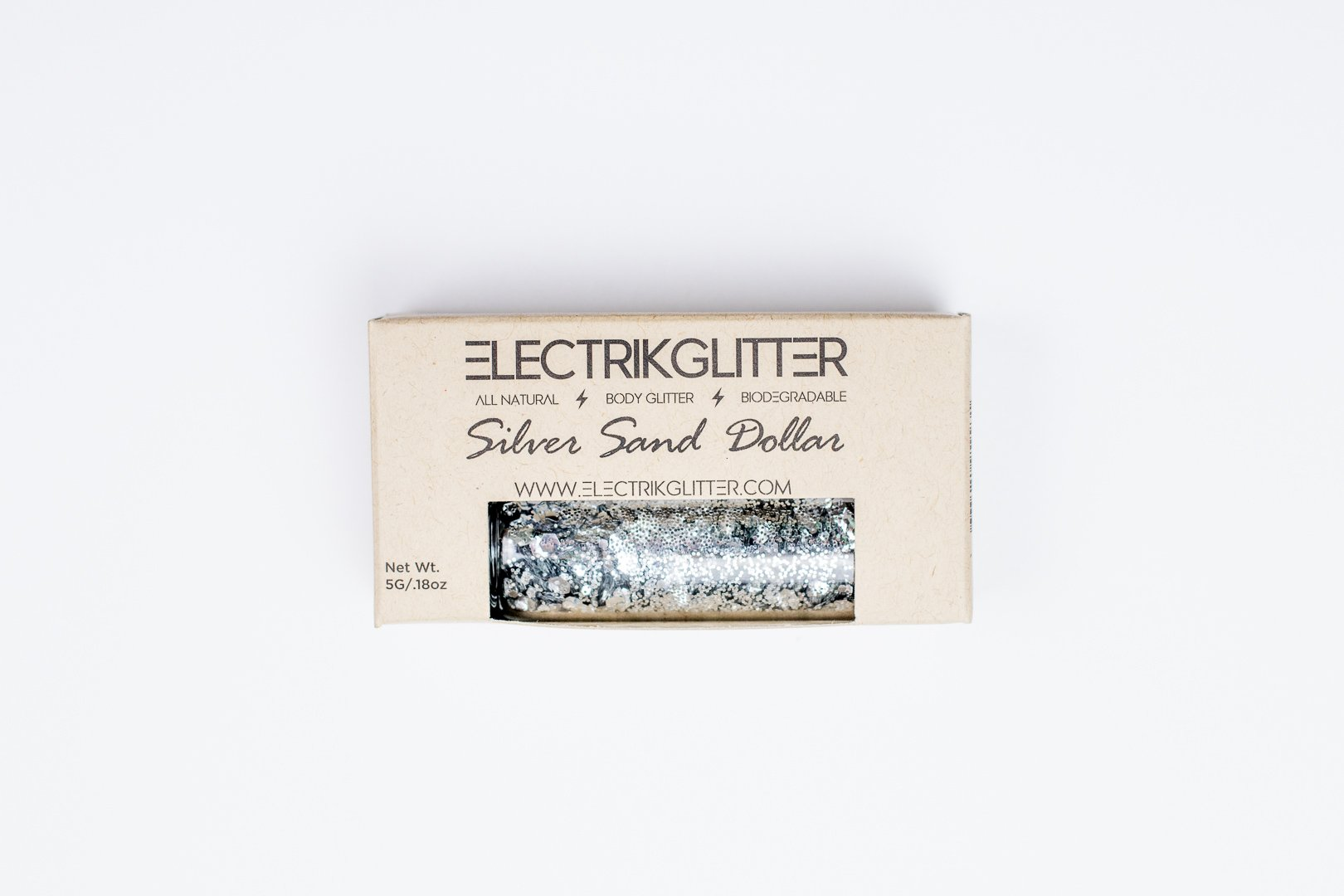 Electrik Glitter Biodegradable Body Glitter (5G) (Silver Sand Dollar) by Electrik Glitter (Image #5)