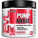 Evlution Nutrition Pump Mode Nitric Oxide Booster to Support Intense Pumps, Performance and Vascularity, 30 Servings (Watermelon)