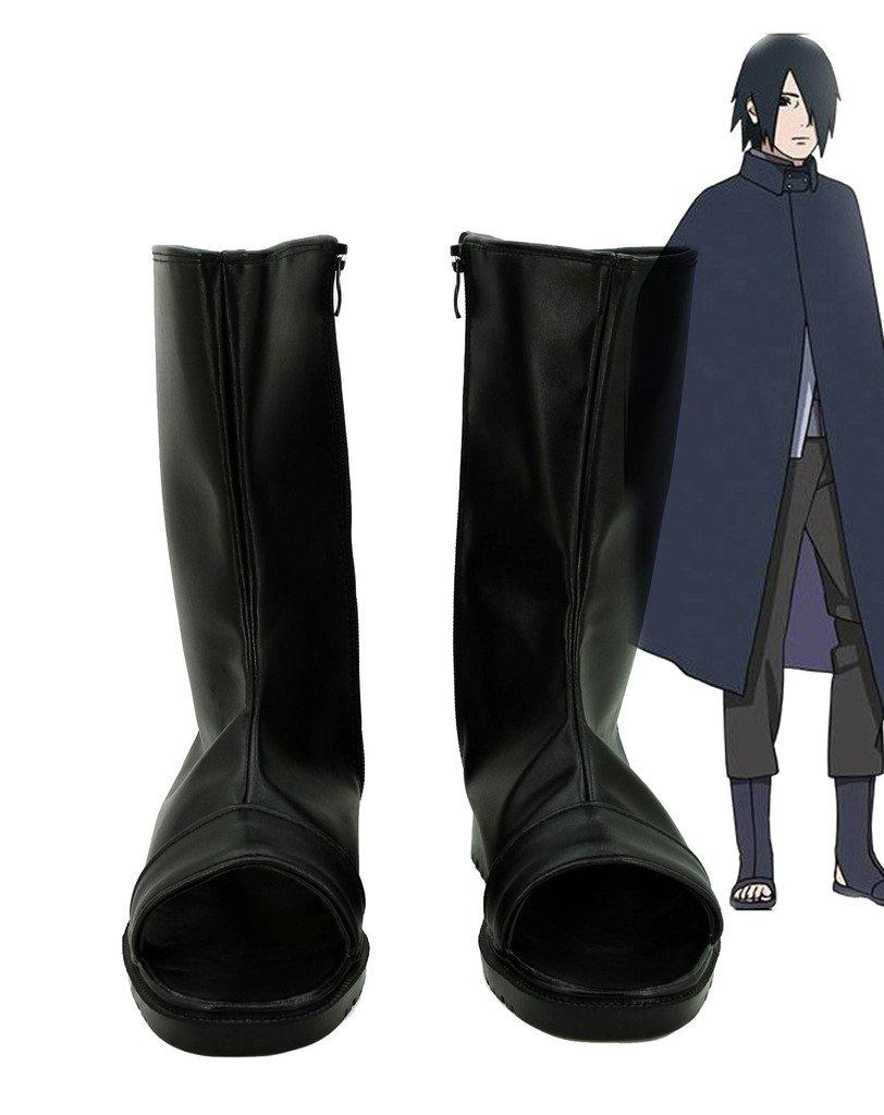 NARUTO Anime Uchiha Sasuke Cosplay Shoes Boots Custom Made 10 B(M) US Female