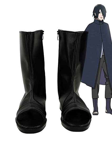NARUTO Anime Uchiha Sasuke Cosplay Shoes Boots Custom Made