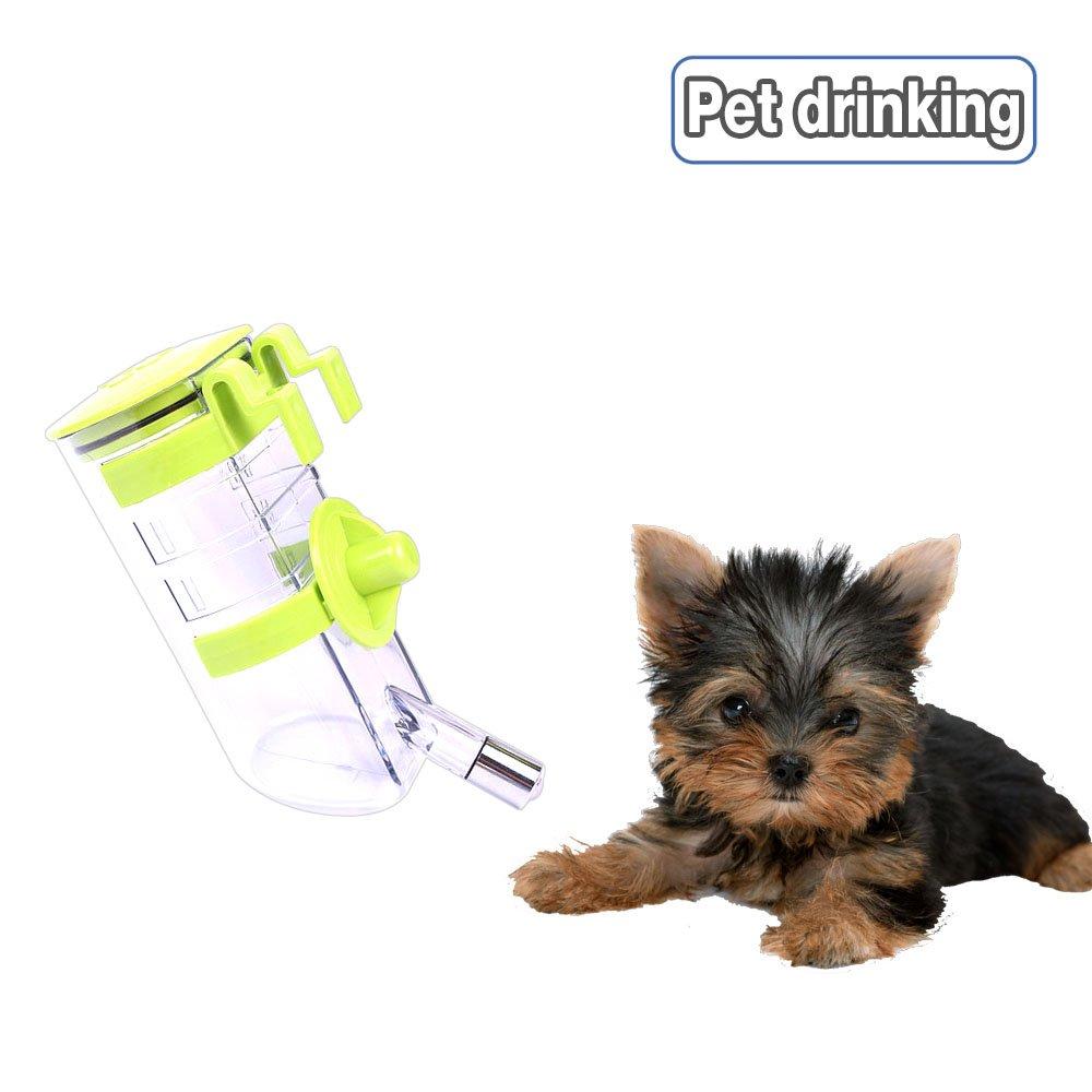 ... goteo n-Top Dog Llene la botella de agua del bebedor del animal doméstico del alimentador del agua del animal doméstico del dispensador del agua Verte: ...