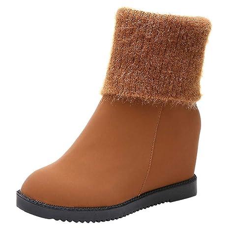 Logobeing Tacones Mujer Plataforma Zapatos Botines de Tacon Mujer Invierno Cómodo Moda 2018 Botas Altos Cuña