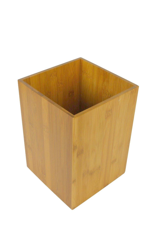 poubelle en bambou pour salle de bain wc ou cuisine - Poubelle Salle De Bain Orange