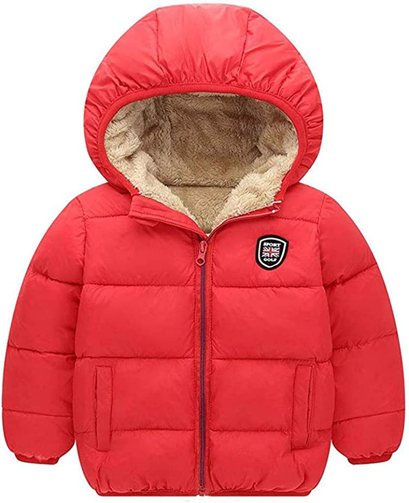 amropi Toddler Girls Down Coat Hooded Winter Jacket Lightweight Warm Clothes Candy Colors for 2-8 Years