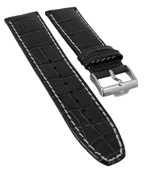 Jacques Lemans Liverpool   Reloj de pulsera banda de piel con relieve cocodrilo 24 mm para