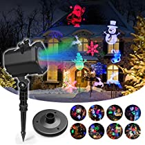 Christmas Projector Lights, InnooLight 15 Slides Projector Lamp, Waterproof Indoor and Outdoor Christmas Projector Light Holiday LED Lights for Various Themes Halloween, Christmas, Birthday, Valentines Day, Easter, Carnival