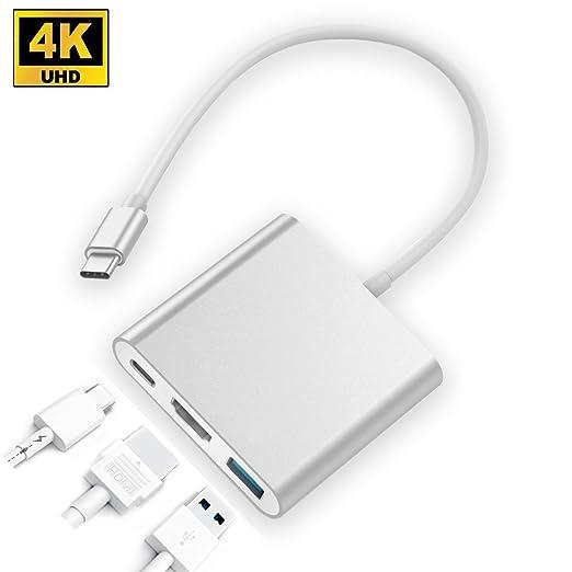 5 opinioni per Tipo C(USB C) USB Hub,ZEDELA USB 3.1 Tipo C a HDMI / USB 3.0 / Tipo C femminile